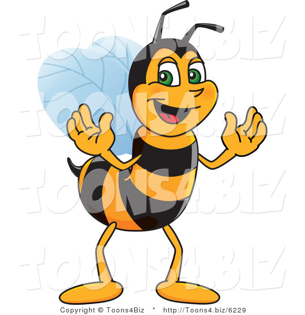 Vector Illustration of a Worker Bee Mascot