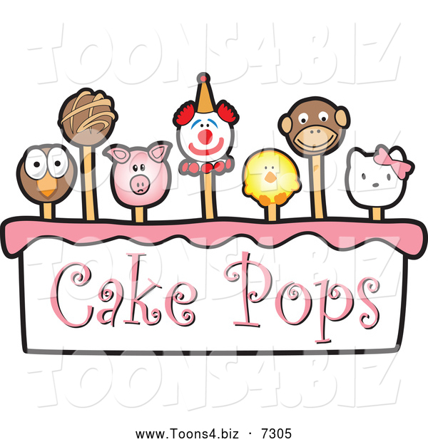 Vector Illustration of Cake Pops and Text
