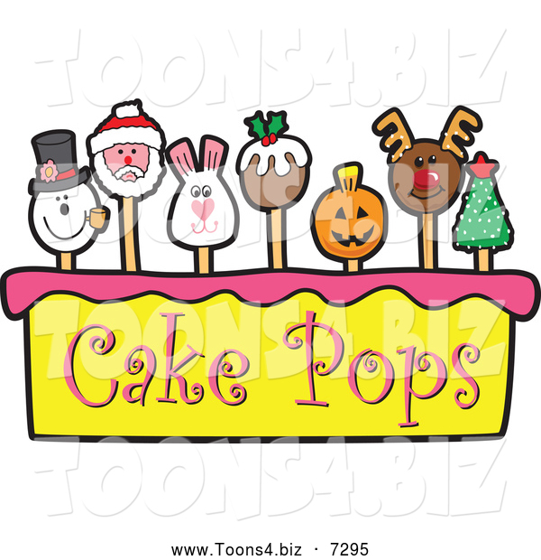 Vector Illustration of Cake Pops and Tier