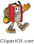 Illustration of a Book Mascot Hiking and Carrying a Backpack by Toons4Biz