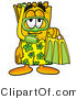Illustration of a Cartoon Admission Ticket Mascot in Green and Yellow Snorkel Gear by Toons4Biz