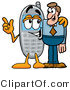 Illustration of a Cartoon Cellphone Mascot Talking to a Business Man by Toons4Biz
