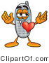 Illustration of a Cartoon Cellphone Mascot with His Heart Beating out of His Chest by Toons4Biz
