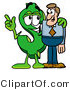 Illustration of a Cartoon Dollar Sign Mascot Talking to a Business Man by Toons4Biz