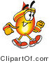 Illustration of a Cartoon Fire Droplet Mascot Speed Walking or Jogging by Toons4Biz
