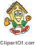 Illustration of a Cartoon House Mascot Running by Toons4Biz