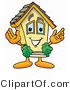 Illustration of a Cartoon House Mascot with Welcoming Open Arms by Toons4Biz