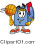 Illustration of a Cartoon Mailbox Spinning a Basketball on His Finger by Toons4Biz