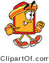 Illustration of a Cartoon Price Tag Mascot Speed Walking or Jogging by Toons4Biz