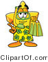 Illustration of a Cartoon Star Mascot in Green and Yellow Snorkel Gear by Toons4Biz