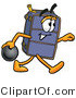 Illustration of a Cartoon Suitcase Mascot Holding a Bowling Ball by Toons4Biz