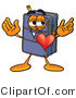 Illustration of a Cartoon Suitcase Mascot with His Heart Beating out of His Chest by Toons4Biz