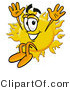Illustration of a Cartoon Sun Mascot Jumping by Toons4Biz