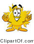 Illustration of a Cartoon Sun Mascot with Welcoming Open Arms by Toons4Biz