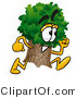 Illustration of a Cartoon Tree Mascot Running by Toons4Biz