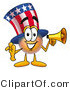 Illustration of a Cartoon Uncle Sam Mascot Holding a Megaphone by Toons4Biz
