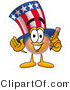 Illustration of a Cartoon Uncle Sam Mascot Holding a Pencil by Toons4Biz