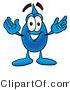 Illustration of a Cartoon Water Drop Mascot with Welcoming Open Arms by Toons4Biz