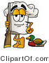 Illustration of a Chef Hat Mascot Duck Hunting, Standing with a Rifle and Duck by Toons4Biz