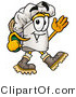 Illustration of a Chef Hat Mascot Hiking and Carrying a Backpack by Toons4Biz