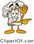 Illustration of a Chef Hat Mascot Waving and Pointing by Toons4Biz