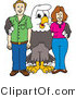 Vector Illustration of a Bald Eagle Mascot with Adults by Toons4Biz