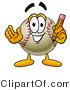 Vector Illustration of a Baseball Mascot Holding a Pencil by Toons4Biz