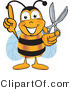 Vector Illustration of a Bee Mascot Cartoon Character by Toons4Biz