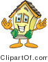 Vector Illustration of a Brand New Cartoon Home Mascot Smiling with Open Arms in Welcoming Position by Toons4Biz