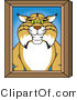 Vector Illustration of a Cartoon Bobcat Mascot Portrait by Toons4Biz