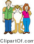 Vector Illustration of a Cartoon Bobcat Mascot with Teachers or Parents by Toons4Biz