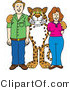 Vector Illustration of a Cartoon Cheetah Mascot with Teachers or Parents by Toons4Biz