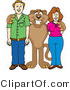 Vector Illustration of a Cartoon Cougar Mascot Character with Adults by Toons4Biz