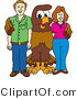 Vector Illustration of a Cartoon Falcon Mascot Character with Adults by Toons4Biz