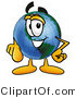 Vector Illustration of a Cartoon Globe Mascot Pointing at the Viewer by Toons4Biz