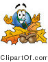 Vector Illustration of a Cartoon Globe Mascot with Autumn Leaves and Acorns in the Fall by Toons4Biz