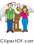 Vector Illustration of a Cartoon Griffin Mascot with Teachers or Parents by Toons4Biz