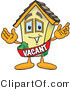 Vector Illustration of a Cartoon Home Mascot Wearing a Vacant Sash by Toons4Biz