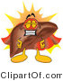 Vector Illustration of a Cartoon Liver Mascot Super Hero by Toons4Biz