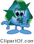 Vector Illustration of a Cartoon Recycle Mascot Whispering by Toons4Biz