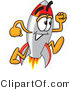 Vector Illustration of a Cartoon Rocket Mascot Running by Toons4Biz
