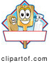 Vector Illustration of a Happy Broom Scrub Brush and Spray Bottle Mascot Characters on a Blue and Red Cleaning Sign or Logo by Toons4Biz