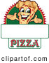 Vector Illustration of a Happy Pizza Mascot Character Sign or Logo 1 by Toons4Biz