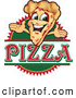 Vector Illustration of a Happy Pizza Mascot Character Sign or Logo 2 by Toons4Biz