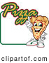 Vector Illustration of a Happy Pizza Mascot Character Sign or Logo 4 by Toons4Biz