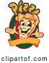 Vector Illustration of a Happy Pizza Mascot Character Sign or Logo 6 by Toons4Biz