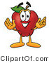 Vector Illustration of a Red Apple Mascot with Open Arms While Greeting Someone by Toons4Biz