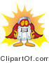 Vector Illustration of a Salt Shaker Mascot Dressed As a Super Hero by Toons4Biz
