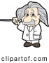 Vector Illustration of an Albert Einstein Scientist Using a Pointer Stick by Toons4Biz