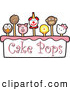 Vector Illustration of Cake Pops and Text by Toons4Biz